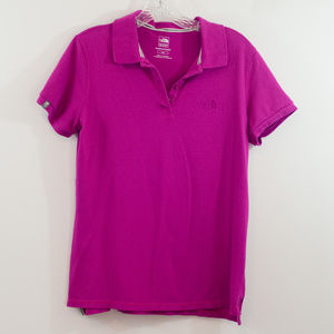 ☀️ North Face Pink Polo Collar Short Sleeve